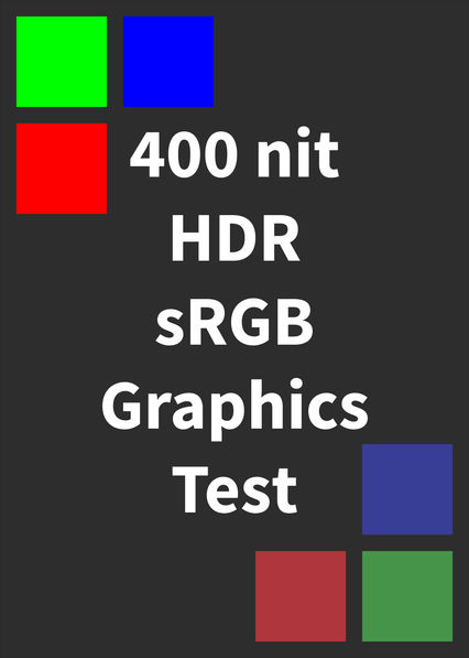 HDR sRGB Graphics Test (400 nits) on Netflix Canada